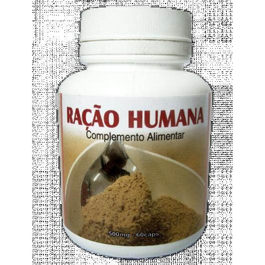Ração Humana - 500mg/60 cápsulas Atacado c/12 Frascos