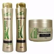 Shampoo, Condicionador e Mascara de Quiabo Belkit (kit c/3 unidades)