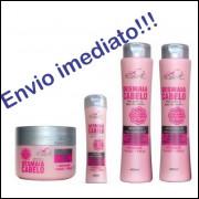 Desmaia Cabelo 1 Shampoo 1 Cond 1 Masc 1 Leave-in Original